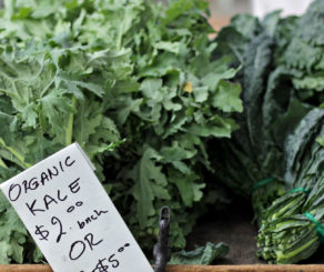 Kale Bunches at Farmers Market