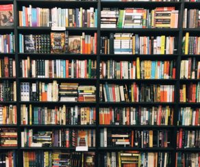 Bookshelves in the Recycle Bookstore in Campbell, California