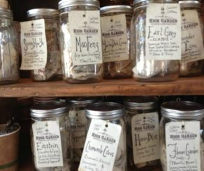 Jars of tea at High Garden Tea Nashville
